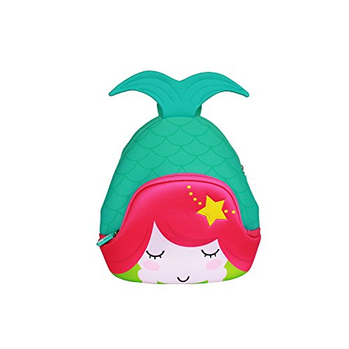 Kids Mermaid Backpack 3D Cute Sea Cartoon School Girls twins Bags