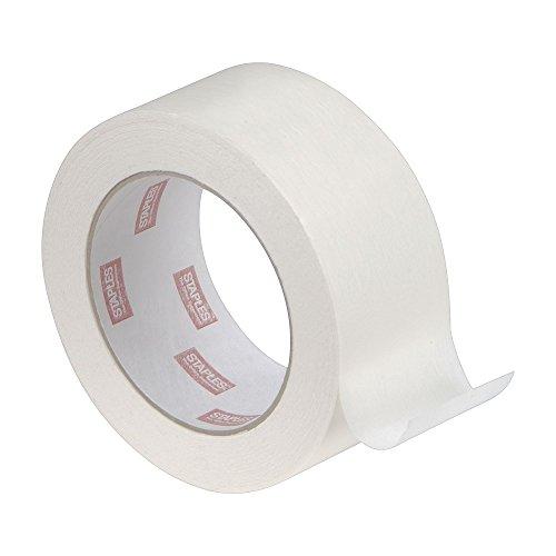 "Staples STP468405 Standard Grade Masking Tape, 60 yd Length x 2"" Width (Pack of 2)"