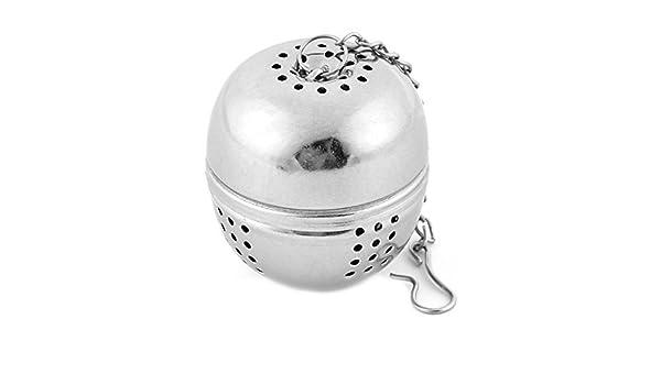 Amazon.com: eDealMax en forma de huevo de filtro a base de plantas de especias grano de café Hoja difusor colador de té 5pcs tono de plata: Kitchen & Dining