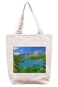Lago esmeralda - bolsa de totalizador de la lona del algodón