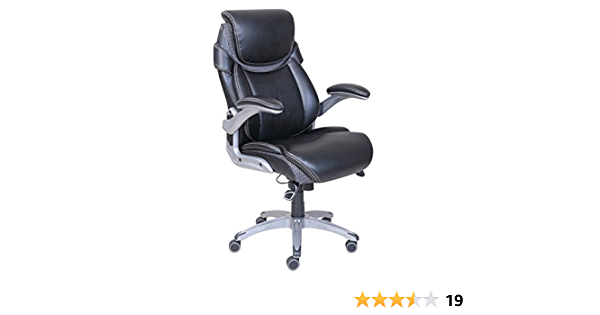 Amazon Com Dormeo True Innovations Octaspring Bonded Leather Manager Office Chair Black Furniture Decor