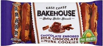 East Coast Bakehouse Chocolate Enrobed Milk Chocolate Chunk Cookies 160G pack