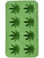 Beistle 59932 Marijuana Leaf Ice Cube Mold Silicone 8 Tray