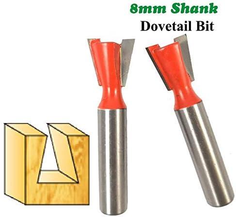GENERICS LSB-Werkzeuge, 1 stück 8mm Schaft Schwalbenschwanz Bit 2 Flöte fräser Hartmetall Gravur Werkzeuge Fräser for Holzfäller
