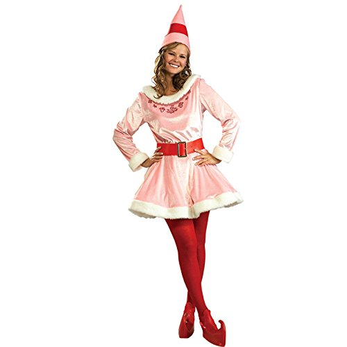 Womens Elf Costume (Rubie's Costume Deluxe Jovi The Elf Costume, Pink, One Size)