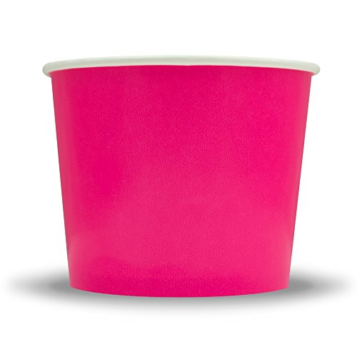 Frozen Dessert Supplies 12 oz Pink Paper Ice Cream Cups -...