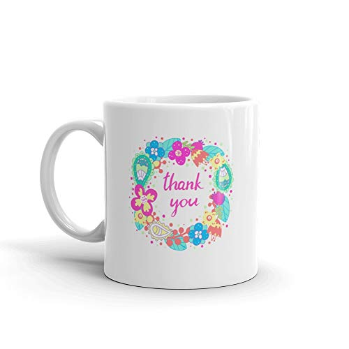 Floral Frame Cute Flowers Arranged In A Shape Of The Wreath Perfect Wedding Invitations And Birthday Cards Funny Mug