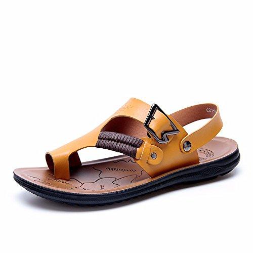 Das neue Männer Sandalen Männer Sommer Atmungsaktiv Strand Schuh Männer Sandalen Männer Rutschfest Freizeit Schuh ,Gelb,US=9.5,UK=9,EU=43 1/3,CN=45