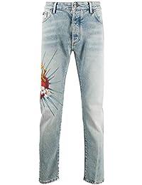 Luxury Fashion Man PMYA012S203430188588 Light Blue Cotton Jeans   Spring Summer 20