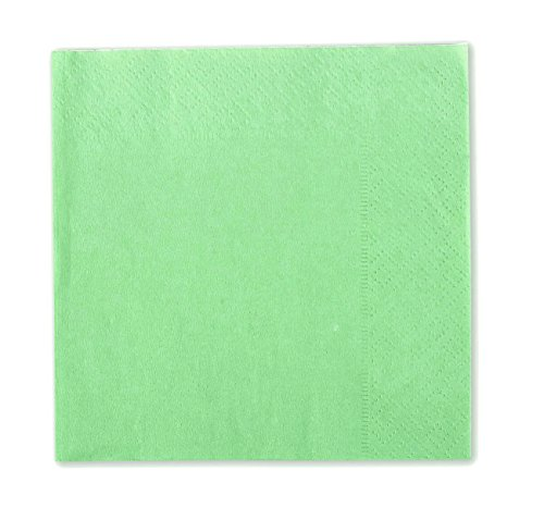 Cocktail Napkins - 150-Pack Disposable Paper Napkins, 2-Ply, Mint Green, 13 X 13 Inches