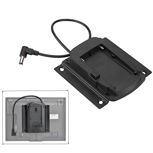 Andoer Battery Adapter Base Plate for Lilliput Monitors for FEELWORLD Monitors Compatible for Sony NP-F970 F550 F770 F970 F960 F750 Battery