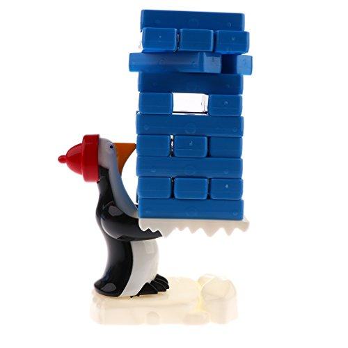 Lovoski プラスチック製 子ども おもちゃ ペンギン 氷ブロック スタッキング バランスゲーム 知育玩具