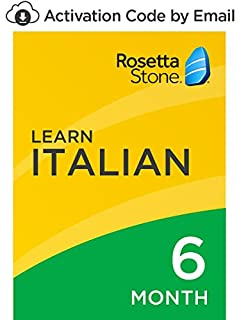 Rosetta Stone: Learn Italian for 6 months on iOS, Android, PC, and Mac [Activation Code by Email] (B07D75F96Z)   Amazon price tracker / tracking, Amazon price history charts, Amazon price watches, Amazon price drop alerts