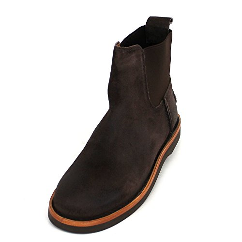 Blau Waxed Dark Femmes Amsterdam Brown Suede Shabbies Bottine 181020100 XWx0PgxF1