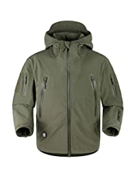 TACVASEN Men's Outdoor Soft Shell Army Military Tactical Jacket Coat