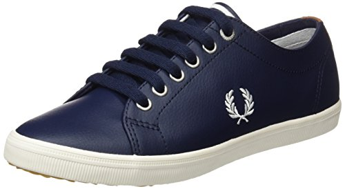 Fred Blu Carbon Leather Blue Stringate Perry Oxford Scarpe Uomo Kingston rnxfrg