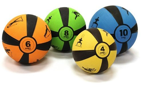 Prism Fitness Group Self-Guided SMART Medicine Ball Set - 4, 6, 8, 10 lbs. by Ironcompany.com