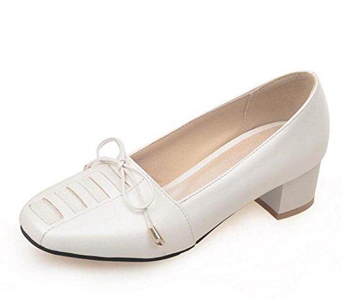 XIE Zapatos para Mujer de la corteFue con el Talón el Arco en los Zapatos Ocasionales Frescos Pequeños, Blue, 39 WHITE-39
