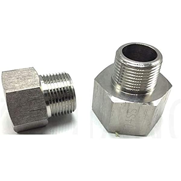 Pipe Fitting 1//4 NPT Male to Metric M16 M16X1.5 Female Adapter Steel