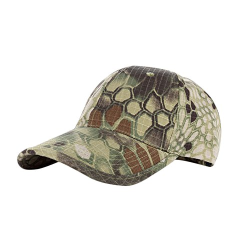 CHASEFREE Jungle Camo Bionic Outdoor Hunting Tactical Cap Adjustable for Men and Women (Army green)