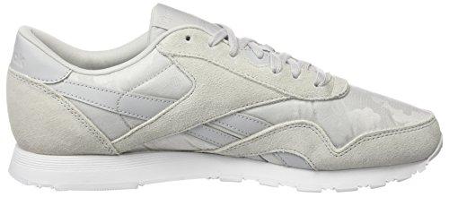 Reebok Damen Classic Nylon Sneaker Grau (hs- Skull Grey / White)