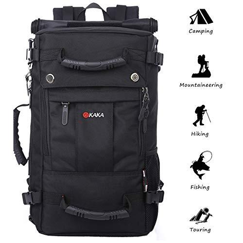 Anti-theft Travel Daypack Hiking Backpack Multifunction Water Repellent Outdoor Trekking Knapsack Carry-on Bag (black) ()