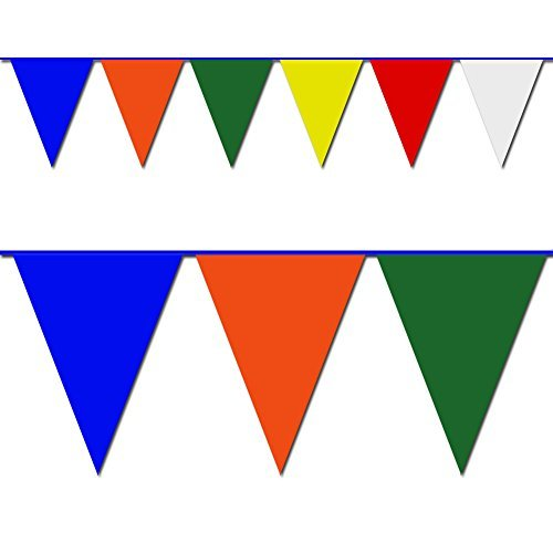Multicolor Triangle Pennant Flag 100 Ft.