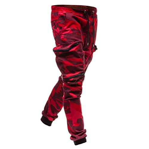 Classici Sportivi Pantaloncini Moda Jogger Uomo Motivo Cotone In Coulisse Mimetica Tipo Rosso Maschile Sovraimpunture Coulisse Con Di Da 0qqxZdS