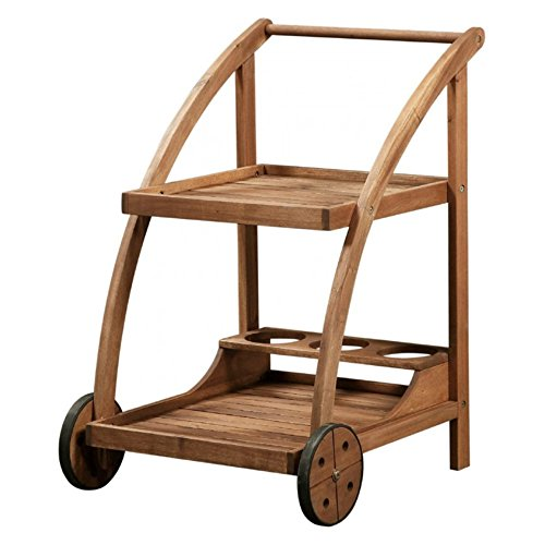 Trolley in Teak Finish (Teak Trolley)