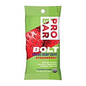 PROBAR – Bolt Organic Energy Chews, Berry Blast, Non-GMO, Gluten-Free, USDA Certified Organic, Healthy, Natural Energy, Fast Fuel Gummies with Vitamins B & C (12 Count) Packaging May Vary