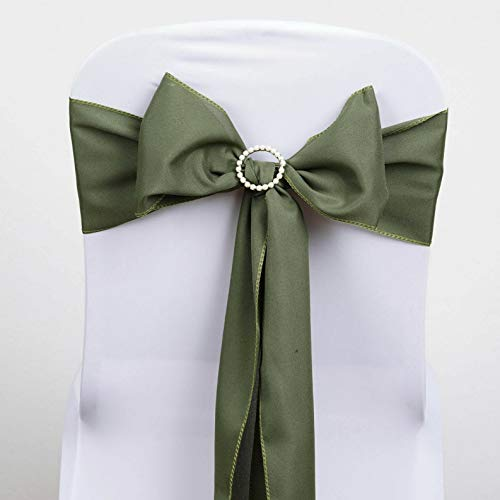 (Mikash Polyester Chair Sashes Bows Ties Wedding Reception Decorations Wholesale | Model WDDNGDCRTN - 4955 | 50 pcs)