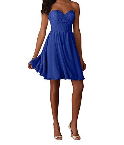 Royal Schwarz Partykleider Charmant Cocktailkleider Abendkleider Mini Blau Tanzenkleider Damen Traegerlos Kurzes 15wzq7
