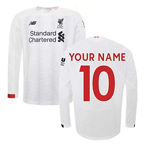 - 2019-2020 Liverpool Away Long Sleeve Football Soccer T-Shirt Jersey (Your Name)