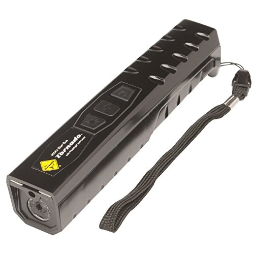 Tornado 900k Volt Stun Gun with Nylon Carry Case, Wrist Strap, LED Flash Light, and Aim Assistance