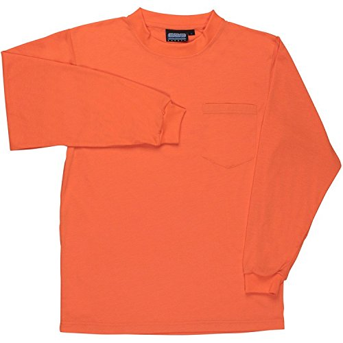 ERB 61796 9602 Non-ANSI Hi-Vizability Long Sleeve Jersey Knit T-Shirt, Orange, 5X-Large by ERB