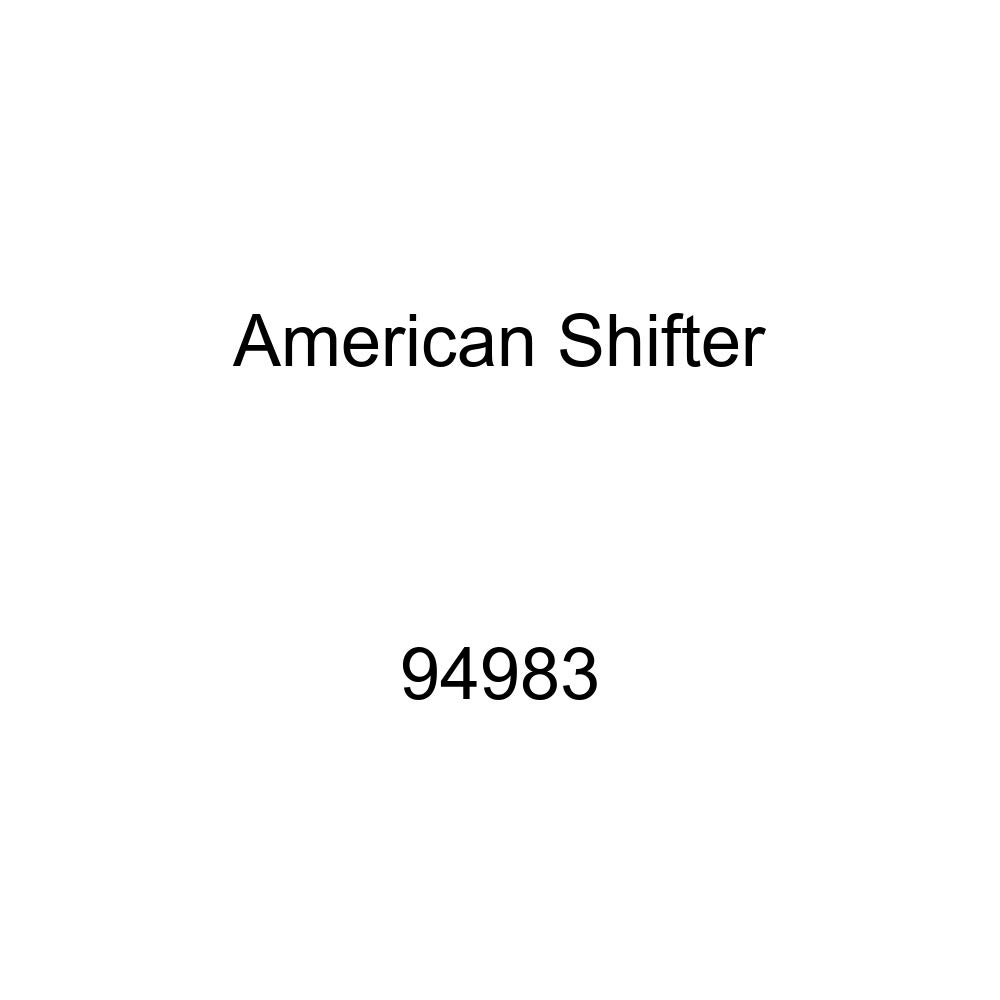American Shifter 94983 Red Shift Knob with M16 x 1.5 Insert White Drift King