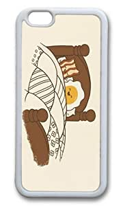 Apple Iphone 6 Case,WENJORS Cool Breakfast In Bed Soft Case Protective Shell Cell Phone Cover For Apple Iphone 6 (4.7 Inch) - TPU White