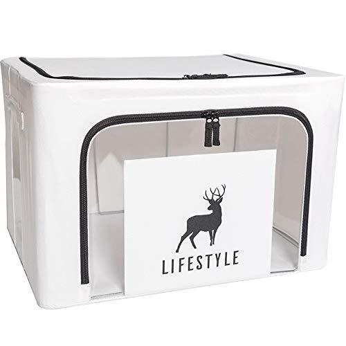 - Foldable Storage Bag with Transparent Window Clothes Blanket Quilt Comforter Storage Organizer Nylon Oxford Comforter Storage Bags with Zipper Large Storage Bag for Bedding - 19.7X15.7X12.6'' 1PC (B)