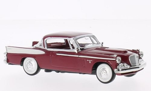 (Studebaker golden Hawk, dark red, 1958, Model Car, Ready-made, Lucky The Cast 1:43)