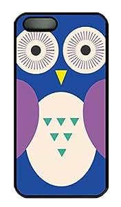 Cute Cartoon Owl Hard Case Cover iPhone 5S 5 Polycarbonate Black