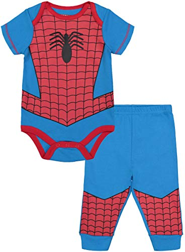Marvel Avengers Baby Boys' Bodysuit & Pants Clothing Set, Spider-Man (12M) ()
