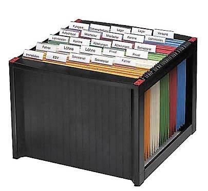 Helit H61100-92 - Archivador para 40 carpetas colgantes, apilables, sin rellenar, color negro: Amazon.es: Oficina y papelería
