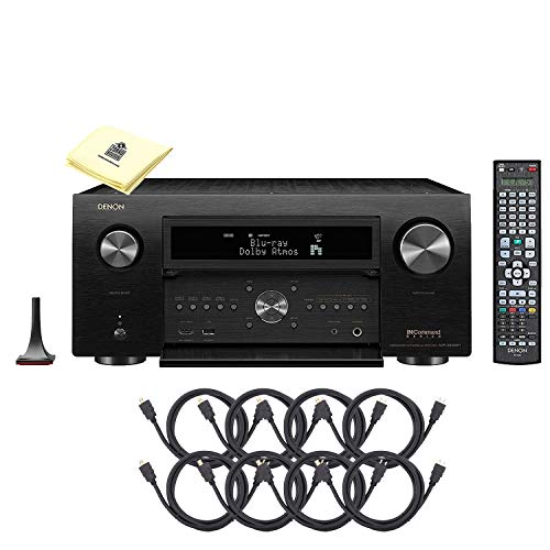 Denon AVR-X8500H World's First 13.2 Next Generation 4K Ultra HD Channel Receiver Home Theater with Dolby Atmos, DTS:X, Auro-3D & Built-in HEOS Technology Bundle with 8 HDMI Cable and Zorro Cloth