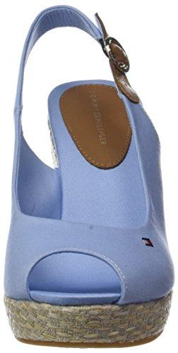 Tommy Hilfiger Damen Iconische Elena Basic Sling Espadrilles Terug Blau (chambray Blauw 407)