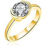 18K Gold Filled Classical Women Engagement Gift Ring With Oval Crystal Diamond (6)