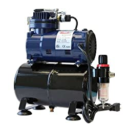 Paasche D3000r 15 Hp Compressor With Tank, Regulator & Moisture Trap
