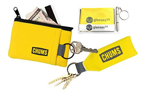 (Chums Floating Neo Keychain and Floating Marsupial Wallet, w/Cloth & Screwdriver )