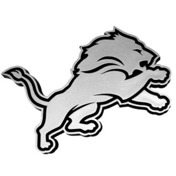 NFL Detroit Lions Chrome Automobile Emblem