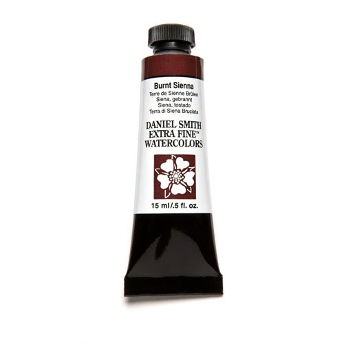 DANIEL SMITH Extra Fine Watercolor 15ml Paint Tube, Burnt Sienna