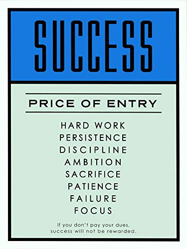NG Monopoly Motivational Poster Print Success Price of Entry Wall Art Decor